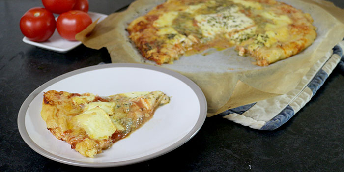 Four Cheese Pizza - Pizza Quattro Formaggi Recipe