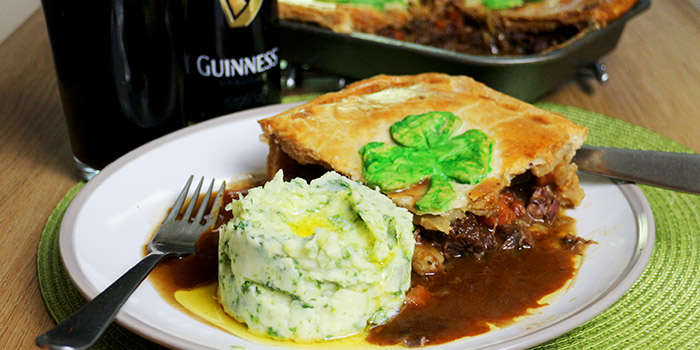 Beef and Guinness Pie with Kale Colcannon Recipe