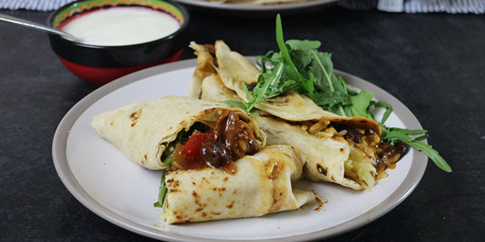 Chilli and Cheese Burritos with Home-made Flour Tortillas Recipe