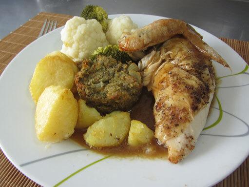 Roast Chicken & Stuffing Recipe