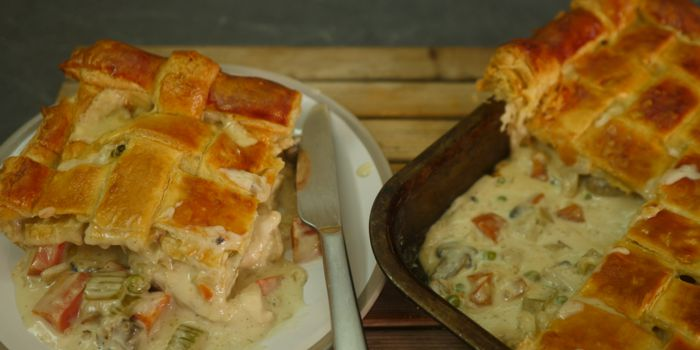 Chicken & Vegetable Pie Recipe