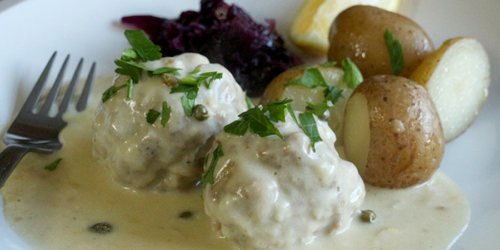 German Meatballs with Lemon Caper Sauce Recipe