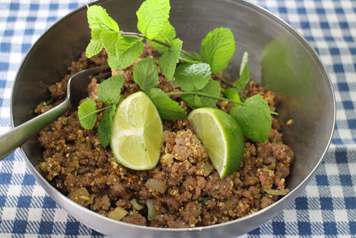 Larb Moo - Spicy Thai Pork Salad Recipe