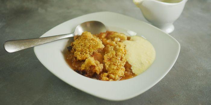 Rhubarb & Apple Crumble Recipe