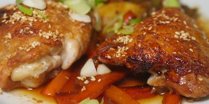 Crispy Sesame Chicken Thighs Recipe